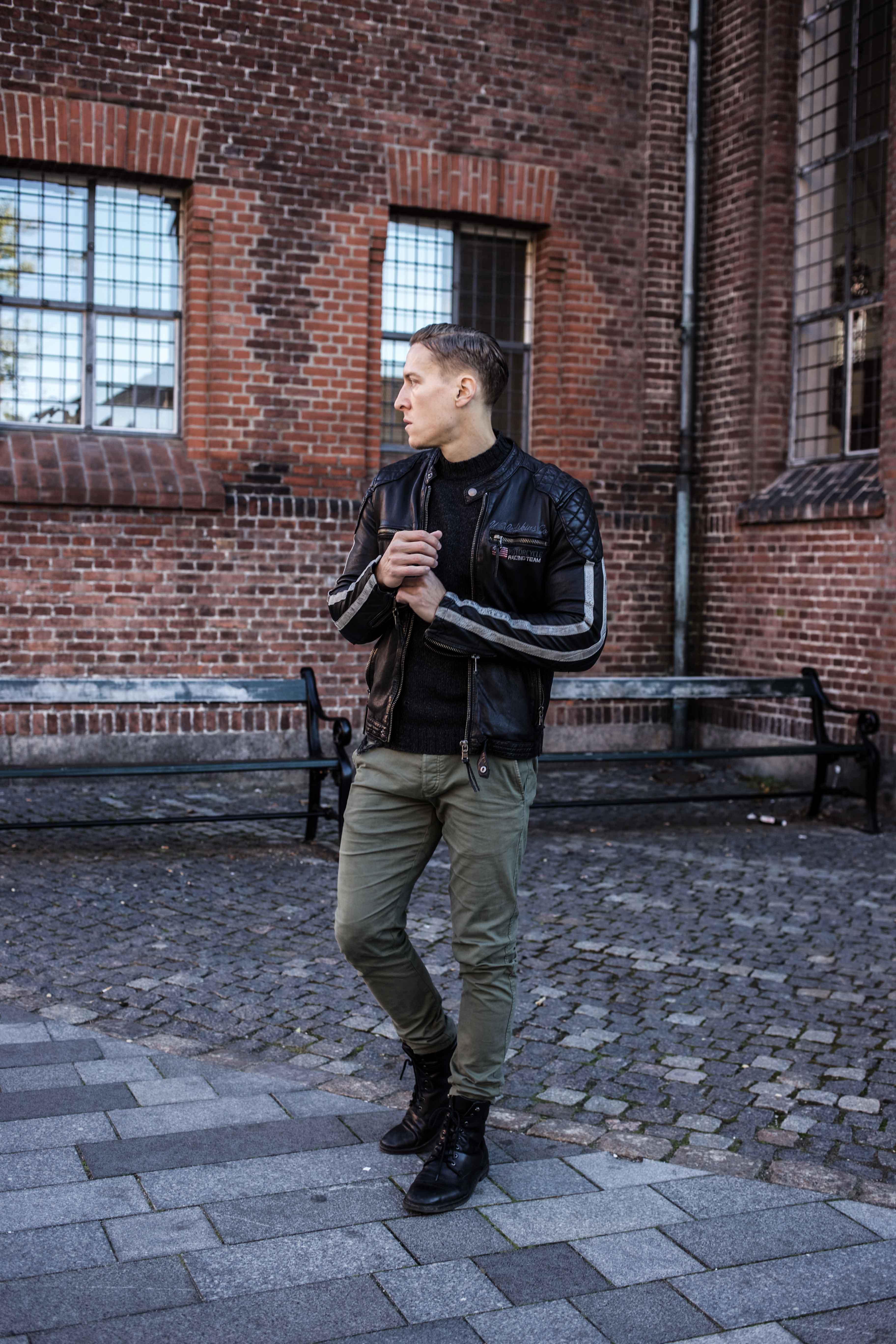 trashed-pullover-schwarze-lederjacke-olivgruene-chino-grunge-look_6020