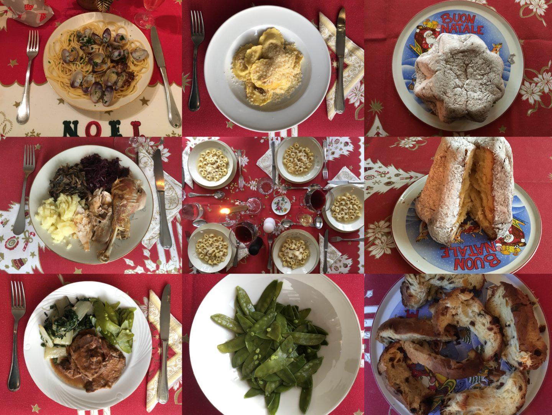 Weihnachtsessen Fleisch.Italienisches Weihnachtsessen Traditionelles Weihnachtsmenü