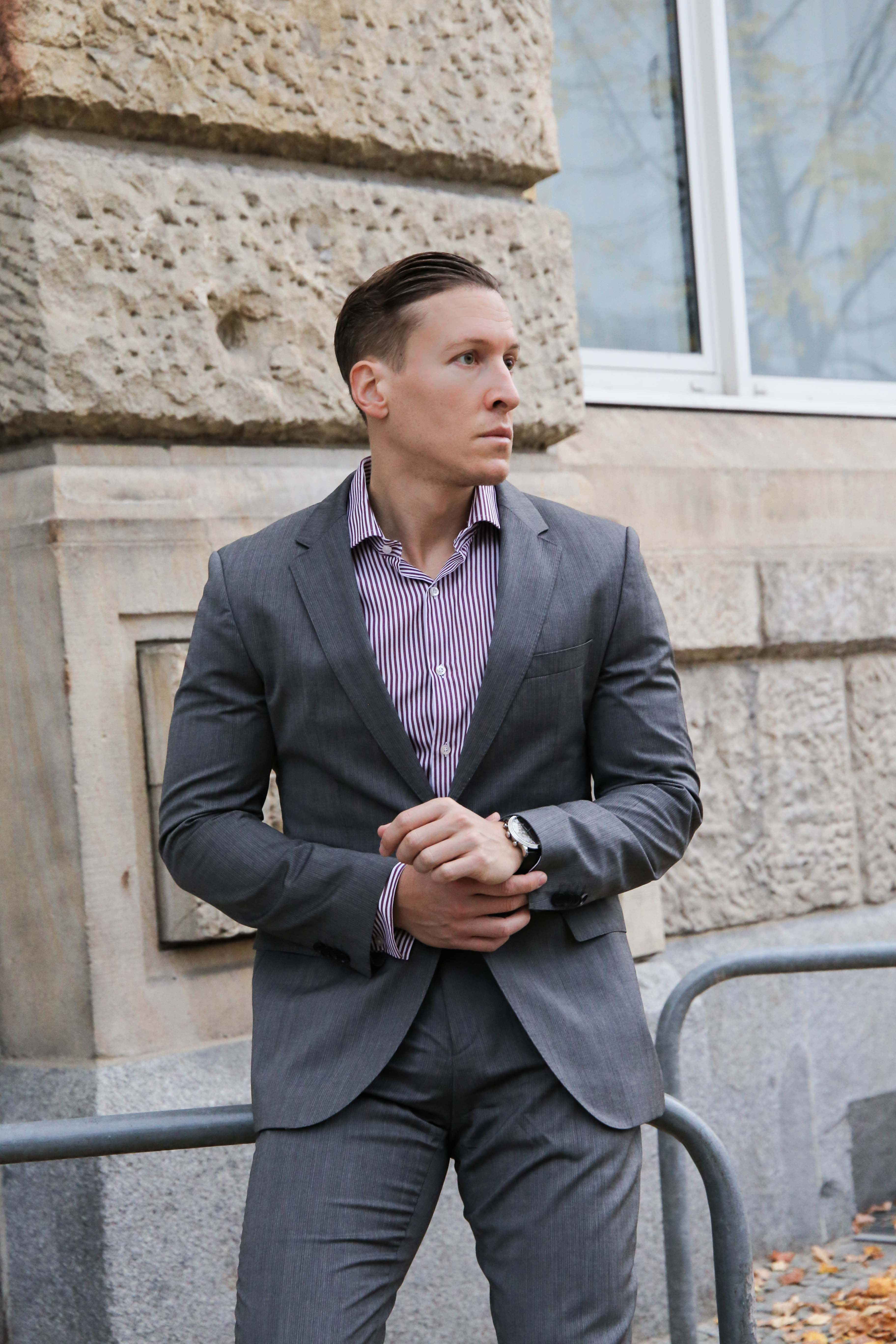 Business Look Grauen Anzug Kombinieren Auf 7milestopariscom