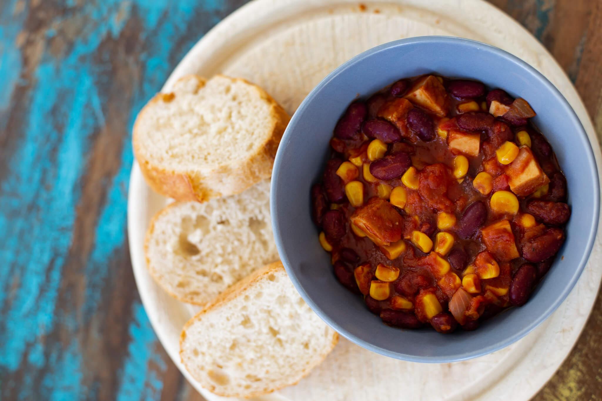 veganes chili sin carne rezept